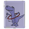 Funny Artistic T-Rex Dinosaur Playing Hula Hoop Tablet (vertical)