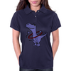 Funny Artistic T-Rex Dinosaur Playing Hula Hoop Womens Polo