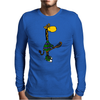 Funny Awesome Giraffe Playing Lacrosse Mens Long Sleeve T-Shirt