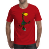 Funny Awesome Giraffe Playing Lacrosse Mens T-Shirt