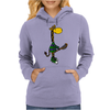 Funny Awesome Giraffe Playing Lacrosse Womens Hoodie