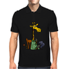 Funny Awesome Giraffe Playing XCard Game Art Mens Polo