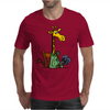 Funny Awesome Giraffe Playing XCard Game Art Mens T-Shirt