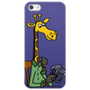 Funny Awesome Giraffe Playing XCard Game Art Phone Case