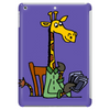Funny Awesome Giraffe Playing XCard Game Art Tablet