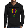 Funny Awesome Goat in Hot Air Balloon Mens Hoodie