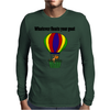Funny Awesome Goat in Hot Air Balloon Mens Long Sleeve T-Shirt
