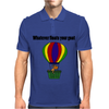 Funny Awesome Goat in Hot Air Balloon Mens Polo