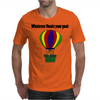 Funny Awesome Goat in Hot Air Balloon Mens T-Shirt