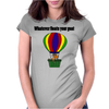 Funny Awesome Goat in Hot Air Balloon Womens Fitted T-Shirt