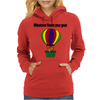 Funny Awesome Goat in Hot Air Balloon Womens Hoodie