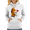 Funny Awesome Horse Drinking Red Wine Art Womens Hoodie