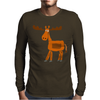 Funny Awesome Moose Primitive Art Mens Long Sleeve T-Shirt