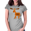 Funny Awesome Moose Primitive Art Womens Fitted T-Shirt