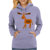 Funny Awesome Moose Primitive Art Womens Hoodie