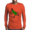 Funny Awesome Pickle Playing Tennis Mens Long Sleeve T-Shirt