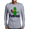 Funny Awesome Pickleball Pickle Monster Mens Long Sleeve T-Shirt