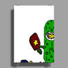 Funny Awesome Pickleball Pickle Monster Poster Print (Portrait)