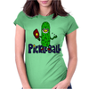 Funny Awesome Pickleball Pickle Monster Womens Fitted T-Shirt