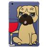 Funny Awesome Pug Drinking Red Wine Tablet