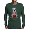 Funny Awesome Schnauzer Dog Playing Red Saxophone Art Mens Long Sleeve T-Shirt