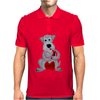 Funny Awesome Schnauzer Dog Playing Red Saxophone Art Mens Polo