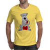 Funny Awesome Schnauzer Dog Playing Red Saxophone Art Mens T-Shirt