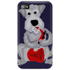 Funny Awesome Schnauzer Dog Playing Red Saxophone Art Phone Case