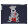 Funny Awesome Schnauzer Dog Playing Red Saxophone Art Tablet