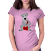 Funny Awesome Schnauzer Dog Playing Red Saxophone Art Womens Fitted T-Shirt