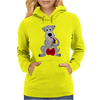 Funny Awesome Schnauzer Dog Playing Red Saxophone Art Womens Hoodie
