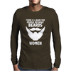 FUNNY BEARDS Mens Long Sleeve T-Shirt
