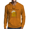 Funny Beer Cures What Ales You Cartoon Mens Hoodie