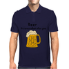Funny Beer Cures What Ales You Cartoon Mens Polo