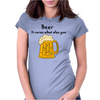 Funny Beer Cures What Ales You Cartoon Womens Fitted T-Shirt