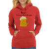 Funny Beer Cures What Ales You Cartoon Womens Hoodie