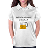 Funny Beer Mug Cartoon Womens Polo