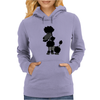 Funny Black Poodle Original Artwork Womens Hoodie