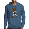 Funny Brown Dog Doing Karate Mens Hoodie