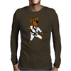 Funny Brown Dog Doing Karate Mens Long Sleeve T-Shirt