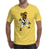 Funny Brown Dog Doing Karate Mens T-Shirt