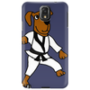 Funny Brown Dog Doing Karate Phone Case