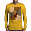 Funny Brown Puppy Dog Playing the Cello Mens Long Sleeve T-Shirt