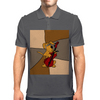 Funny Brown Puppy Dog Playing the Cello Mens Polo