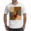 Funny Brown Puppy Dog Playing the Cello Mens T-Shirt