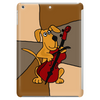 Funny Brown Puppy Dog Playing the Cello Tablet (vertical)