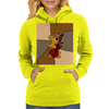 Funny Brown Puppy Dog Playing the Cello Womens Hoodie