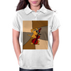 Funny Brown Puppy Dog Playing the Cello Womens Polo
