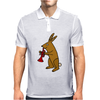 Funny Brown Rabbit Playing Trumpet Art Mens Polo