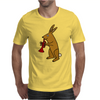 Funny Brown Rabbit Playing Trumpet Art Mens T-Shirt